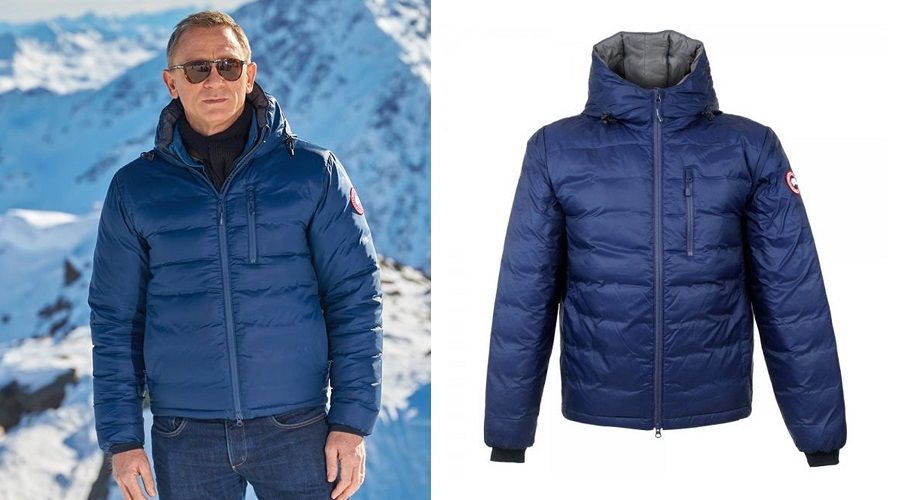Daniel Craig winter style Canada Goose Lodge Hoody